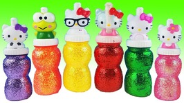 Hello Kitty Surprise Eggs Slime Toys Learn Colors Play Doh Disney Princess