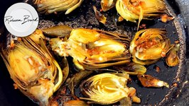 Pan Grilled Artichoke Recipe  / Cook with Me at Home / How to Cook Artichokes - Garlic and Lemon