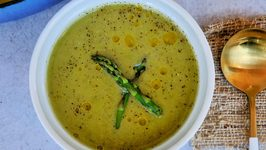 Asparagus, Leek And Pea Soup