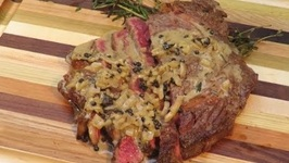 Ribeye Steak With Jack Daniels Whiskey Peppercorn Sauce