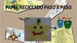 MARCA PÁGINAS CON PAPEL RECICLADO - PASO A PASO