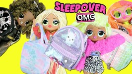 LOL Surprise OMG Surprise Fashion Dolls Sleepover  What's in my Purse Surprise