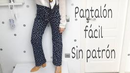 Cómo hacer el pantalón más fácil del mundo sin patrón. DIY.