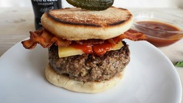 Dinner Recipe- Guinness Burger With Irish Cheddar And Bacon