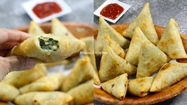 How To Make Cheesy Corn And Spinach Samosa