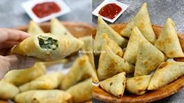 How To Make Cheesy Corn And Spinach Samosa
