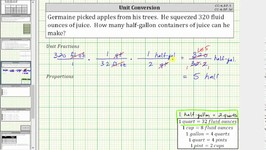 Convert Fluid Ounces to Half-Gallons Using Unit Fractions and Proportions