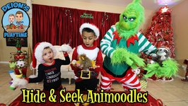 HIDE & SEEK with ANIMOODLES  THE GRINCH  DEION'S PLAYTIME