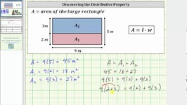 Discover The Distributive Property Using Decomposition of Area