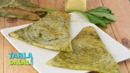 Palak Cheese Dosa - Spinach Cheese Dosa