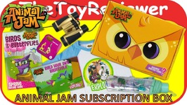 Animal Jam Subscription Box Spring 2017 Charm T-Shirt Umbrella Unboxing Toy Review