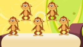 Five Little Monkeys - Kindergarten Nursery Rhymes For Toddlers - Kids Tv Nursery Rhymes