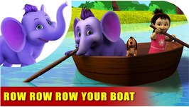 Row Row Row Your Boat - English Nursery Rhyme For Children