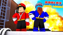 I AM THE BLUE POWER RANGER With Little Ropo - Sharky Gaming - Roblox