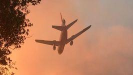 Air Tankers Drop Retardant as Detwiler Continues to Grow