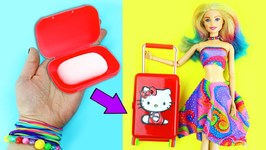 10 AMAZING BARBIE DOLL HACKS - 3 - Easy doll crafts in 5 minutes or less