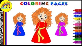 Coloring Page For Kids - Learn Colors For Children - Disney Princess Merida Coloring Page