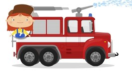 Doctor McWheelie And Fire Truck For Kids  Car Cartoons And Kid Cartoons  Fire Engine Cartoon.