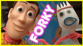 Toy Story 4 - Forky Works Out - Woody Inflatable Punching Bag