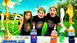 Mentos and Soda Experiment!!  Easy Science Experiments for Kids