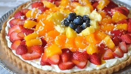 Fresh Fruit Dessert Pizza With Coconut Cream