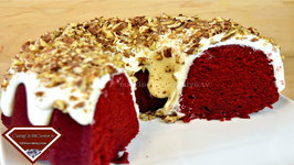 Best Red Velvet Pound Cake W/ Whipped Cream Cheese Frosting - Holiday Series