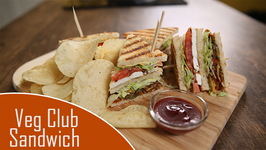 Veg Club Sandwich Recipe  Quick Breakfast / Tiffin / Snack Recipe  The Bombay Chef - Varun Inamdar