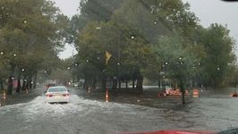 Heavy Rain Floods Streets in Kalamazoo