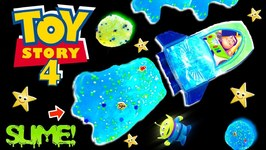 Making Toy Story 4 BUZZ LIGHTYEAR GALACTIC SLIME GAME w/ Surprise Toys