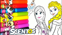 Disney Princess Drawing And Painting Rainbow Colors For Kids Frozen Elsa Anna Ariel And Rapunzel
