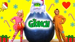 The New Grinch Movie GIANT HATCHING SURPRISE EGG Saves Kids Christmas  Surprise Toys
