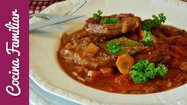 Ternera guisada con verduras estofado tradicional - Recetas caseras