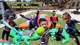 SUPERHEROES vs VILLAINS SLIME CHALLENGES