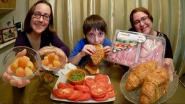 Croissant Sandwiches And Sunshine Raspberry / Gay Family Mukbang - Eating Show