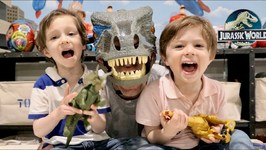 Jurassic World Dinosaur Toys For Kids - Father & Son Pretend Play with Chase and Cole Adventures