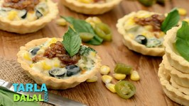Cheesy Corn Tarts With Caramelised Onions