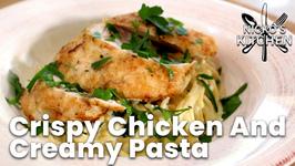 Crispy Chicken And Creamy Pasta - Budget Recipe