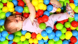 Learn colors for Kids with Learning Toys for Babies: A Ball Pit for Kids - A Toddler Learning Video