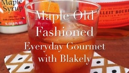 Cocktail Recipe- Maple Old Fashioned