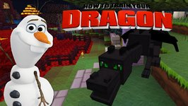 Minecraft - HOW TO TRAIN YOUR DRAGON - Toothless meets Olaf 35