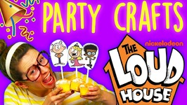 The Loud House Party Poppers And Cupcake Toppers - Birthday Party DIY - Arts And Crafts With Crafty Carol