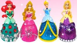Play Doh Sparkle Barbie Disney Princess Dress Shoe High Heel Glitter DIY Play Doh Making