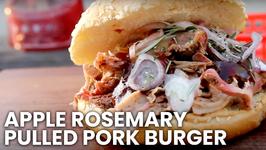 Apple Rosemary Pulled Pork Burger