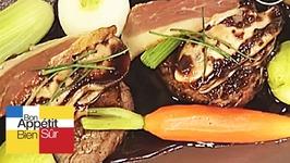 Filets de boeuf, sauce au vin rouge iodée aux huitres