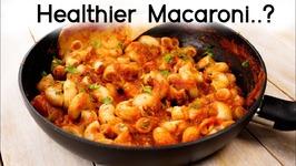 Stuffed Macaroni - Healthier Indian Style Veg Pasta For Kids Lunch Box