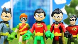 Teen Titans Go - The Best Robin - Girl Robin Imaginext Red Robin And Bat Robin