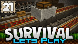 EPIC AUTO SMELTING MACHINE - Survival Let's Play Ep. 21 - Minecraft 1.2 -PE W10 XB1
