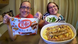 Cranberry Kit Kat, Toad In The Hole/Sausage Bake And Salad -Gay Family Mukbang- Eating Show