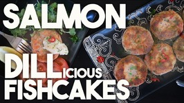 SALMON DILLicious FISHCAKES with MUSTARD sauce