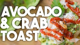 AVOCADO And CRAB Toast - Easy Weeknight Meals